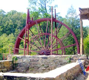 Russell Mill Waterwheel from the top grounds