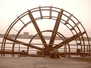Hudson River Tide Waterwheel