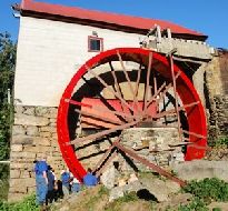 Guilford Mill, NC  24ft Waterwheel Factory