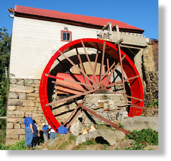 24 foot waterwheel by the Waterwheel Factory