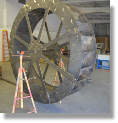 Waterwheel under construction