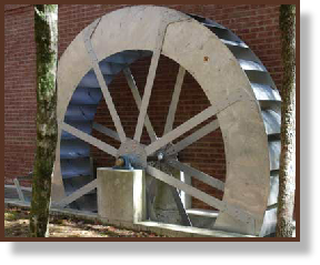 Installed Poncelet Waterwheel