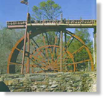 35ft waterwheel by the Waterwheel Factory