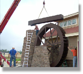 Waterwheel under installation